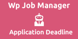 Wp Job Manager – Application Deadline